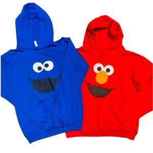 Bundled 2 hoodies Elmo and Cookie Monster
